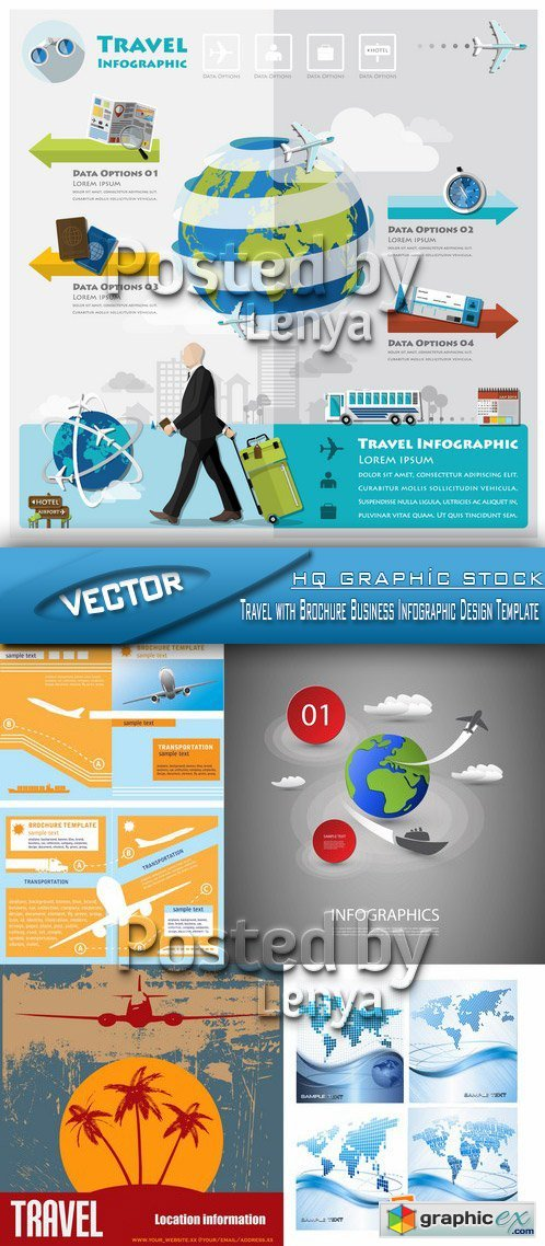 Stock Vector - Travel with Brochure Business Infographic Design Template