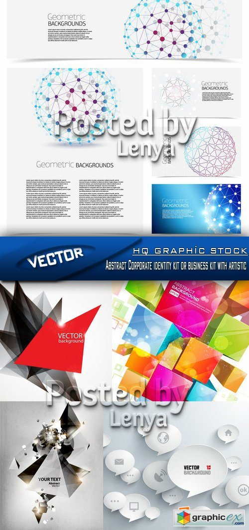Stock Vector - Abstract Corporate identity kit or business kit with artistic