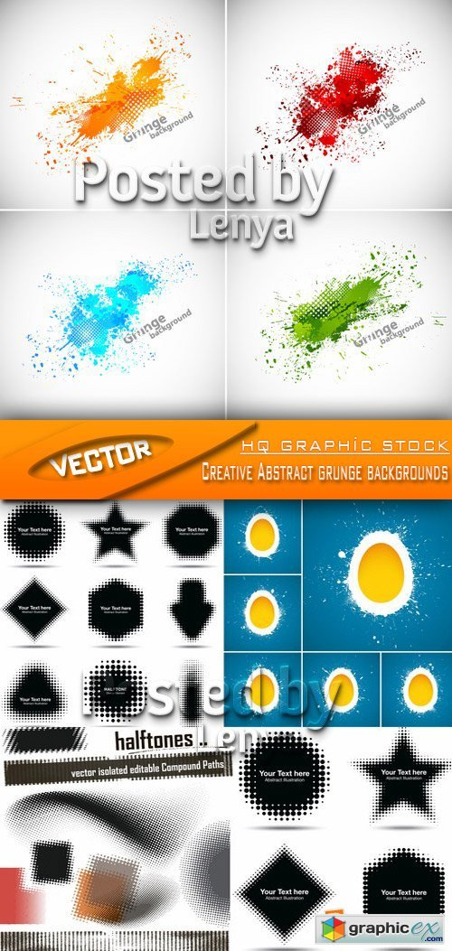 Stock Vector - Creative Abstract grunge backgrounds