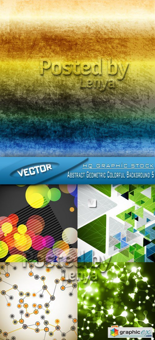 Stock Vector - Abstract Geometric Colorful Background 5