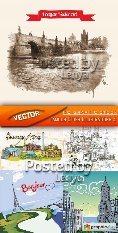 Stock Vector - Famous Cities Illustrations 3