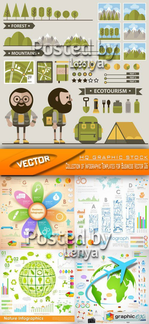 Stock Vector - Collection of Infographic Templates for Business Vector 26