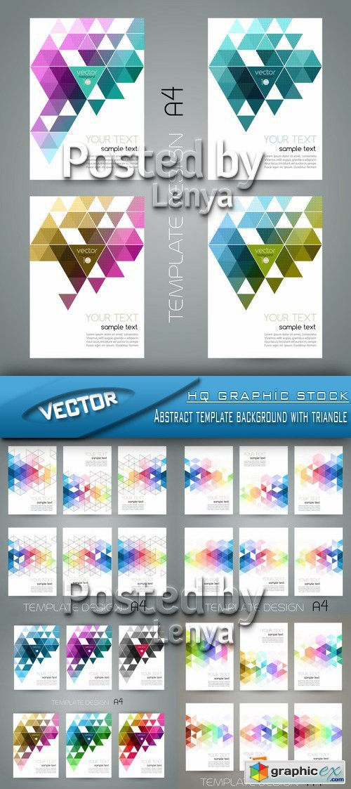 Stock Vector - Abstract template background with triangle
