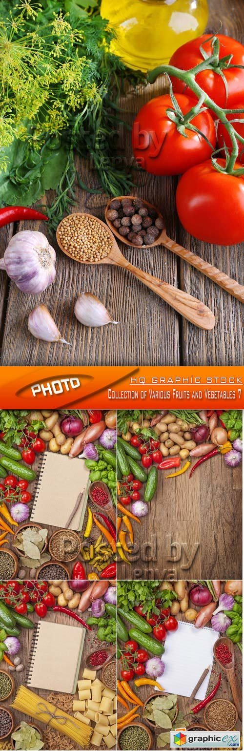 Stock Photo - Collection of Various Fruits and Vegetables 7