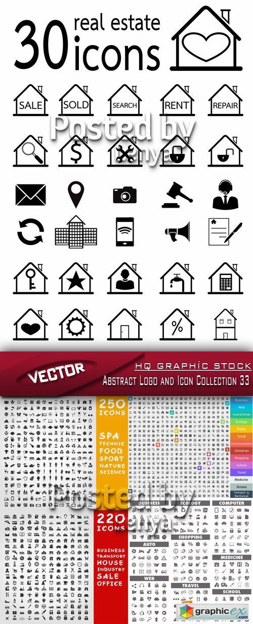 Stock Vector - Abstract Logo and Icon Collection 33
