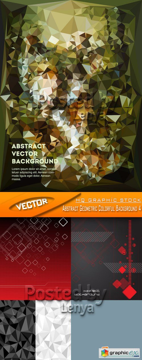 Stock Vector - Abstract Geometric Colorful Background 4