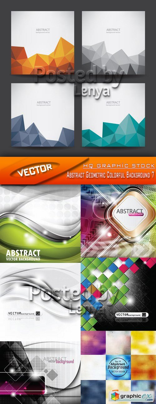 Stock Vector - Abstract Geometric Colorful Background 7