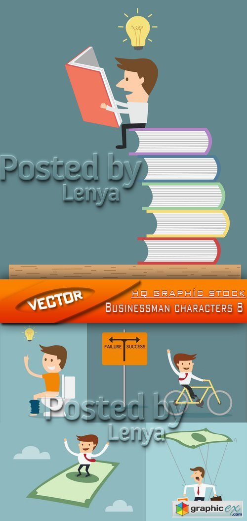 Stock Vector - Businessman characters 8