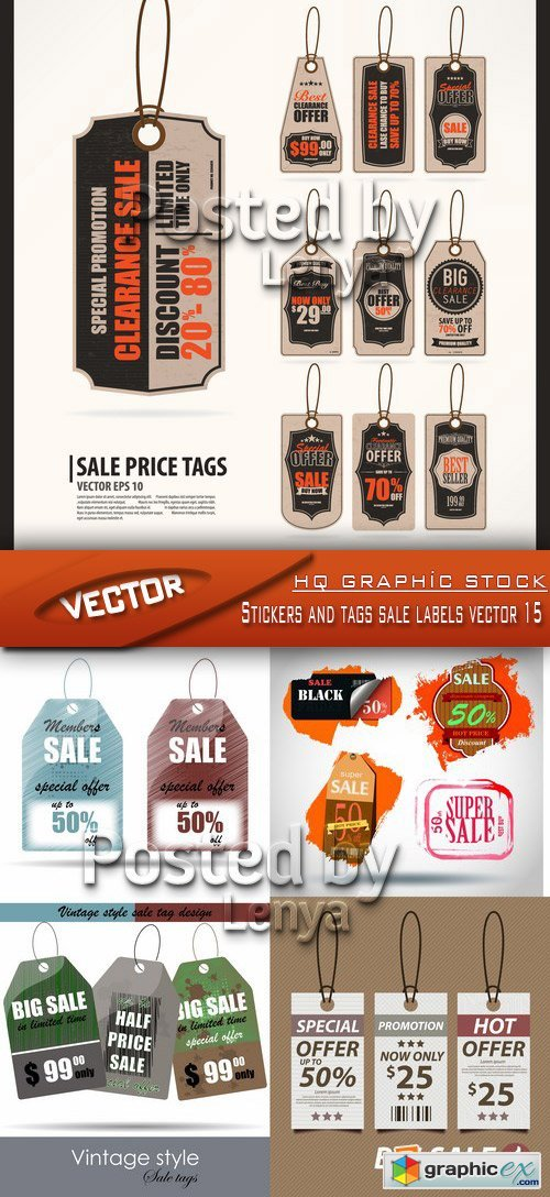 Stock Vector - Stickers and tags sale labels vector 15