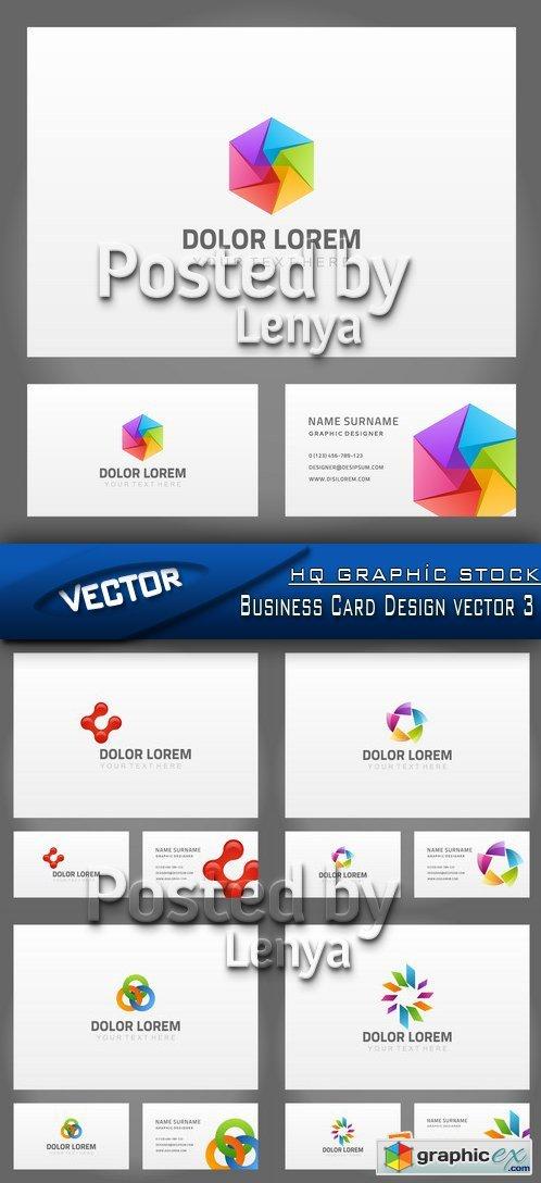 Stock Vector Business Card Design vector 3 Free