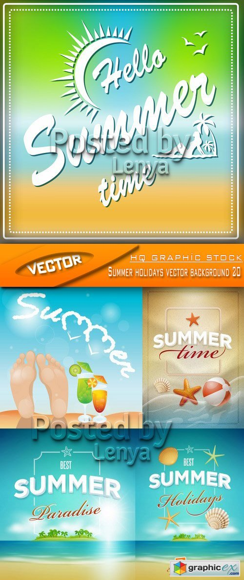 Stock Vector - Summer holidays vector background 20