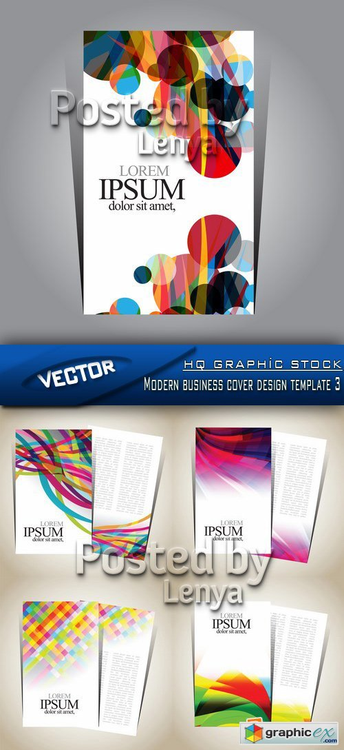 Stock Vector - Modern business cover design template 3
