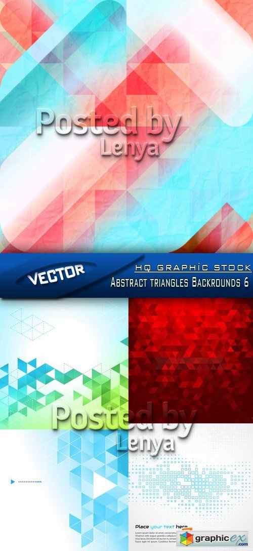 Stock Vector - Abstract triangles Backrounds 6