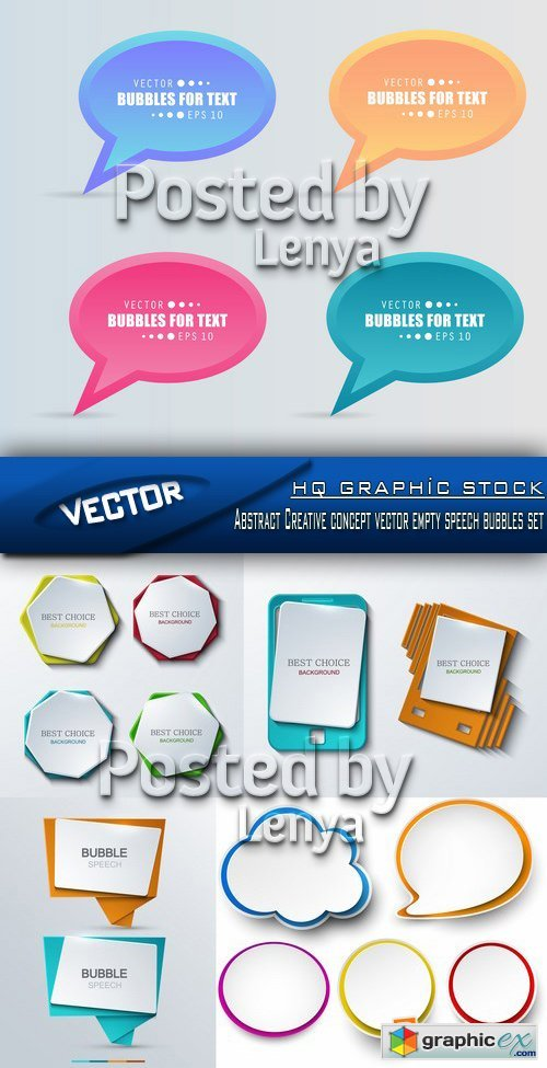 Stock Vector - Abstract Creative concept vector empty speech bubbles set