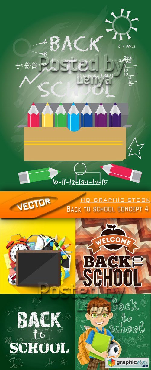 Stock Vector - Back to school concept 4