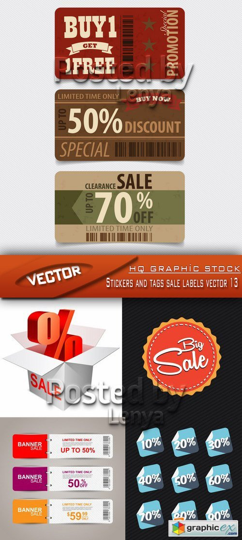 Stock Vector - Stickers and tags sale labels vector 13