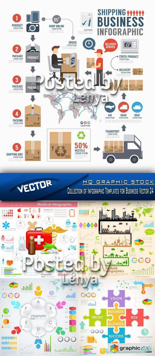 Stock Vector - Collection of Infographic Templates for Business Vector 24