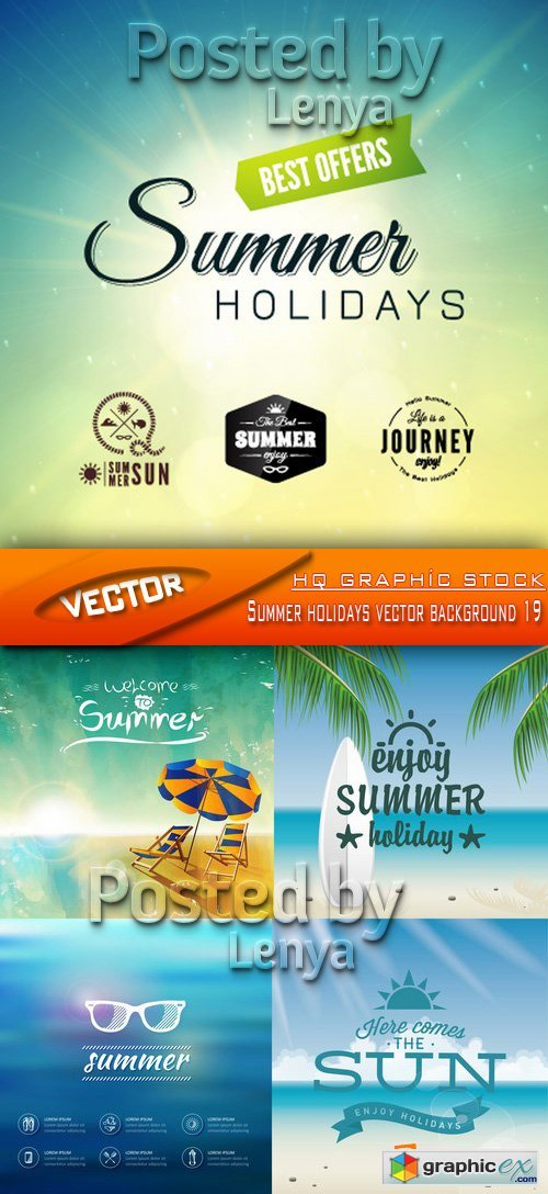 Stock Vector - Summer holidays vector background 19