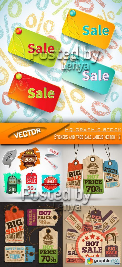 Stock Vector - Stickers and tags sale labels vector 12