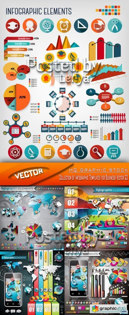 Stock Vector - Collection of Infographic Templates for Business Vector 23