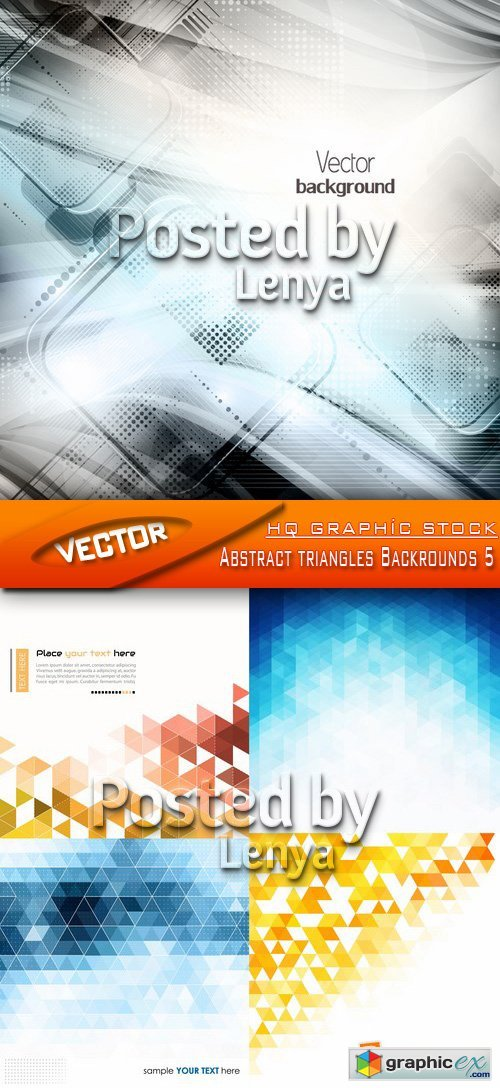 Stock Vector - Abstract triangles Backrounds 5