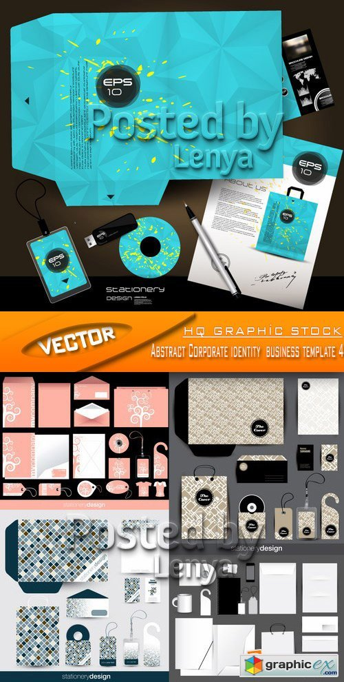 Stock Vector - Abstract Corporate identity business template 4