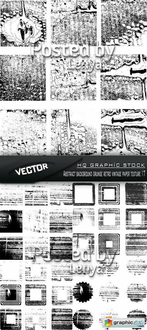 Stock Vector - Abstract background grunge retro vintage paper texture 17