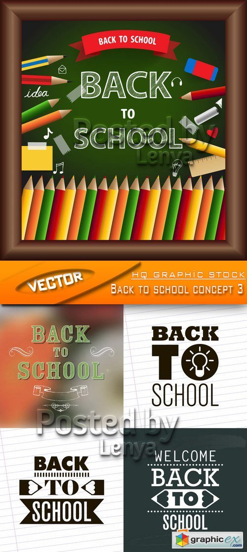 Stock Vector - Back to school concept 3