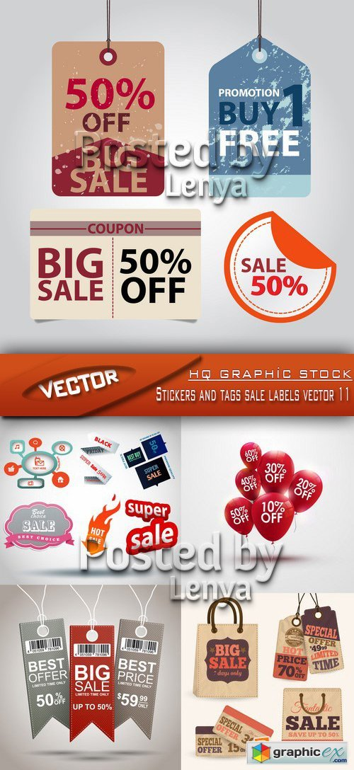 Stock Vector - Stickers and tags sale labels vector 11