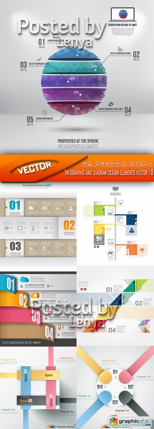 Stock Vector - Infographic and diagram design elements vector 18