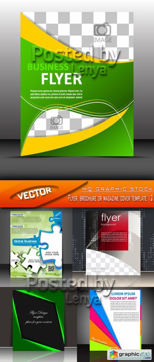 Stock Vector - Flyer, brochure or magazine cover template 12