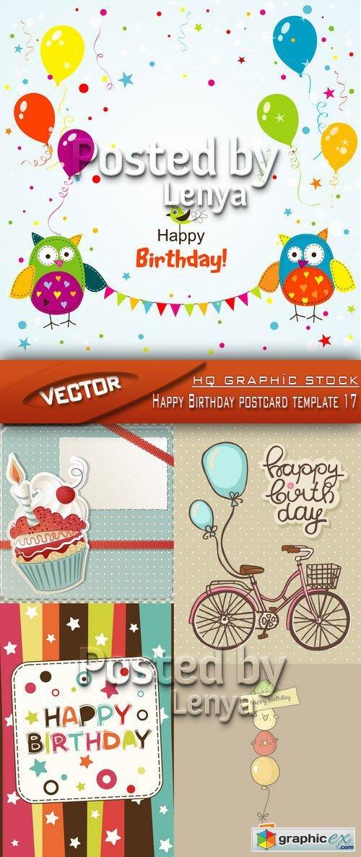 Поздравительные открытки день рождения вектор5
