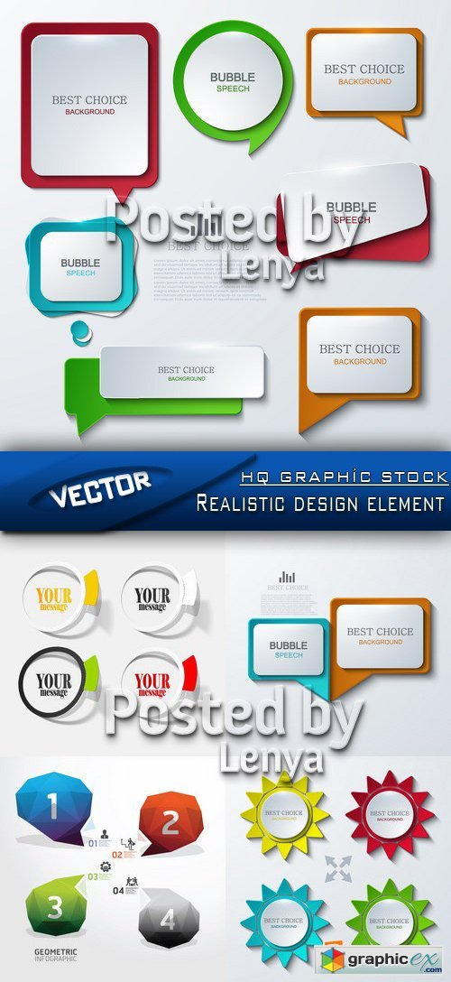 Stock Vector - Realistic design element