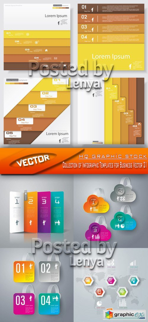 Stock Vector - Collection of Infographic Templates for Business Vector 21