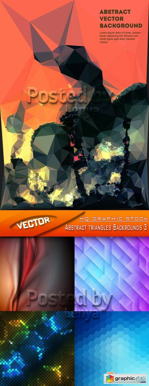 Stock Vector - Abstract triangles Backrounds 3