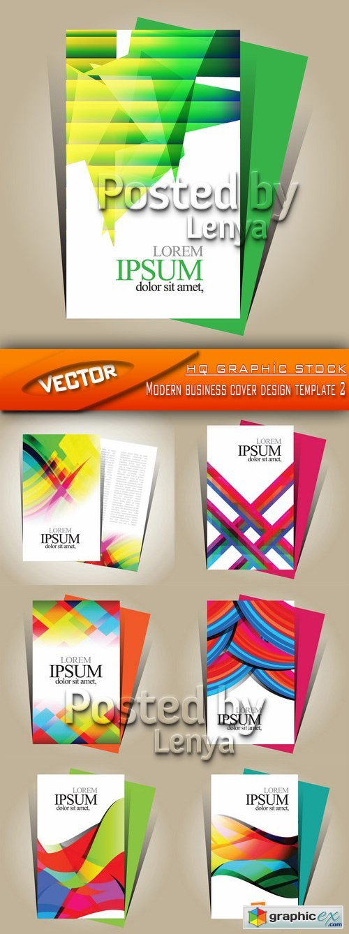 Stock Vector - Modern business cover design template 2