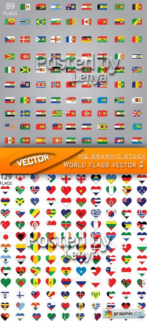 Stock Vector - World flags vector 2