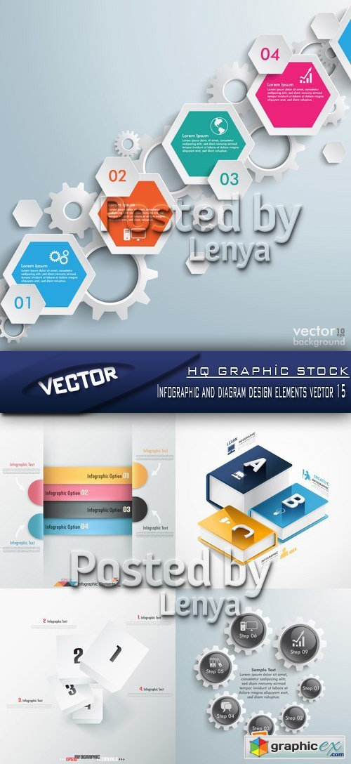 Stock Vector - Infographic and diagram design elements vector 15