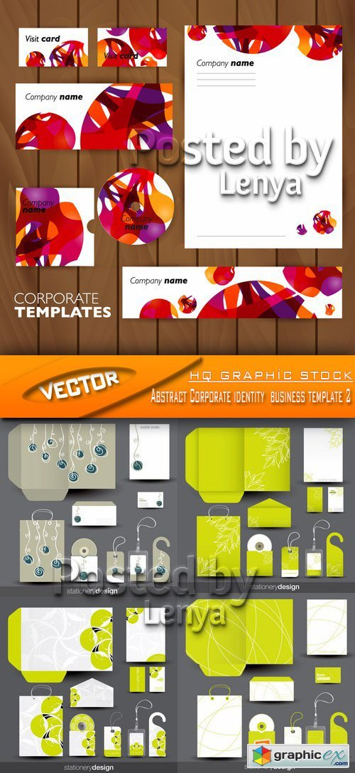 Stock Vector - Abstract Corporate identity business template 2