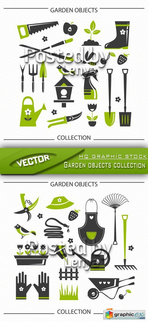 Stock Vector - Garden objects collection