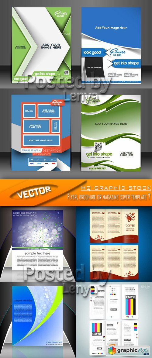 Stock Vector - Flyer, brochure or magazine cover template 7