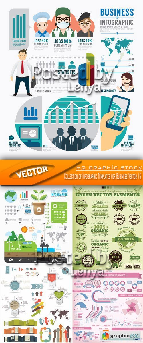 Stock Vector - Collection of Infographic Templates for Business Vector 16