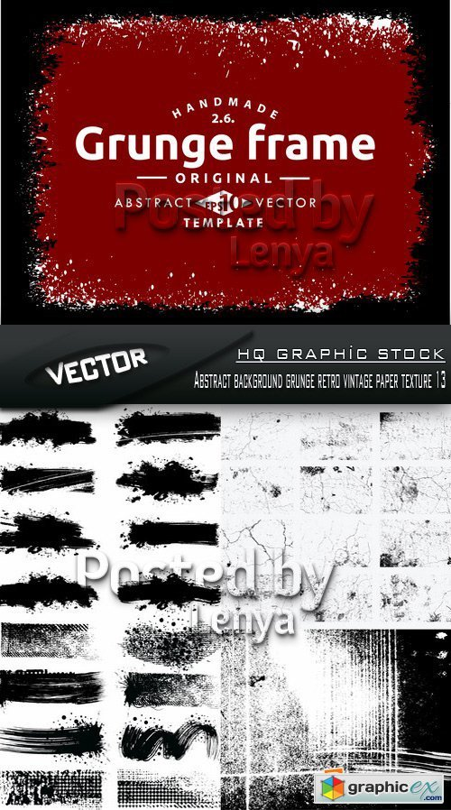 Stock Vector - Abstract background grunge retro vintage paper texture 13