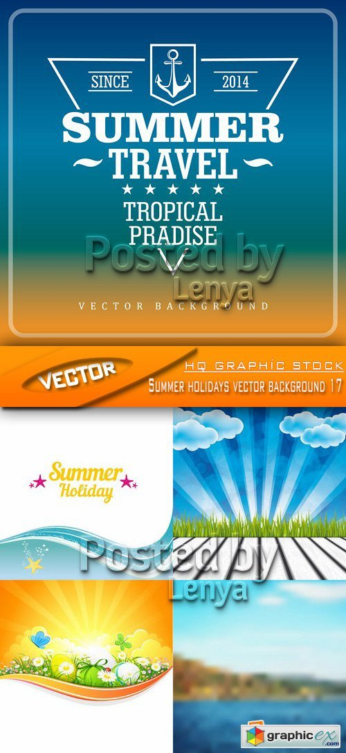 Stock Vector - Summer holidays vector background 17