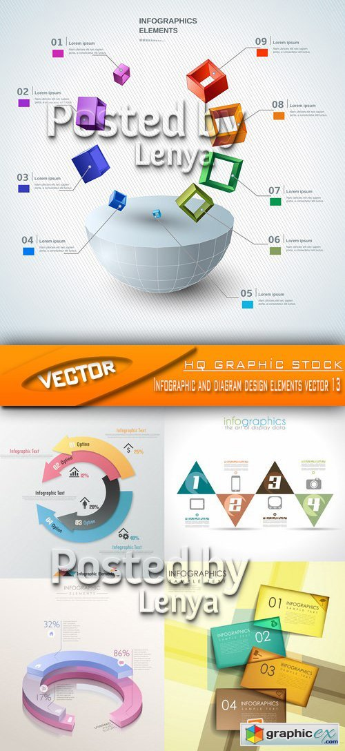 Stock Vector - Infographic and diagram design elements vector 13
