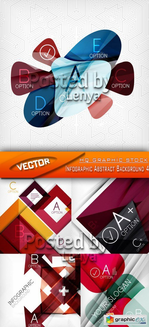 Stock Vector - Infographic Abstract Background 4