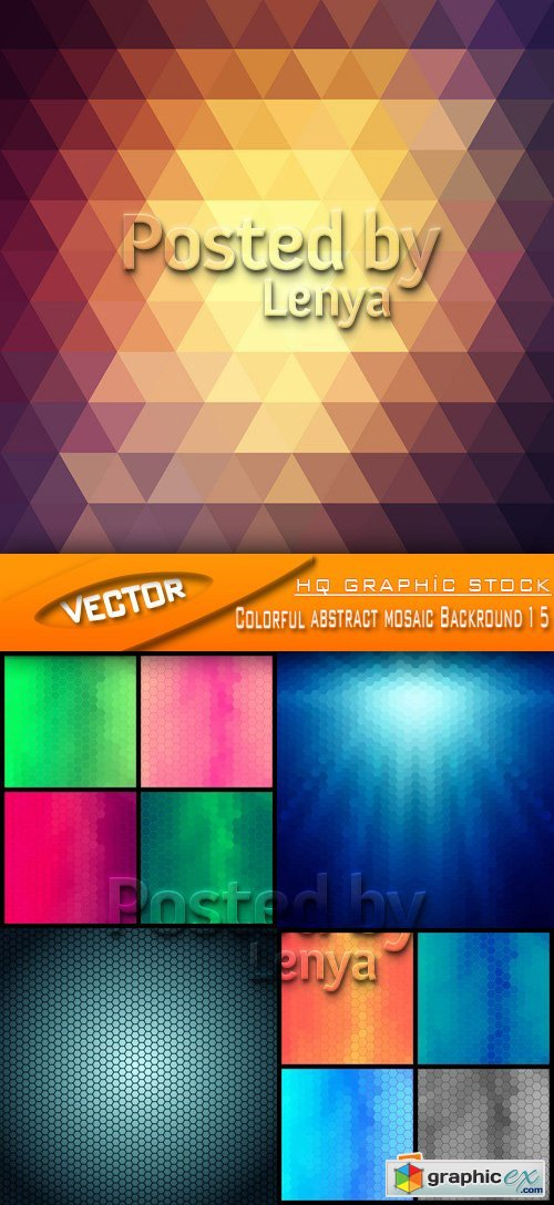 Stock Vector - Colorful abstract mosaic Backround 15