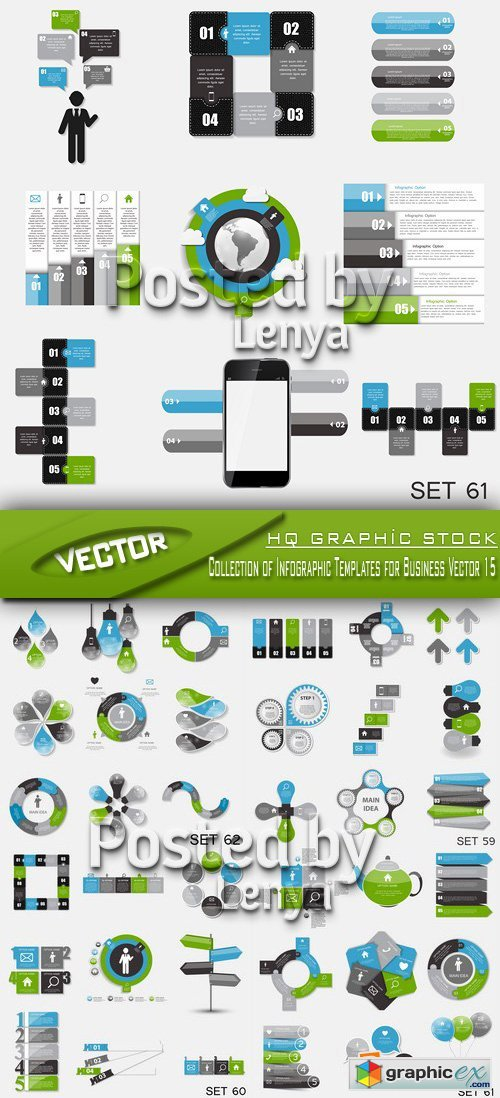 Stock Vector - Collection of Infographic Templates for Business Vector 015