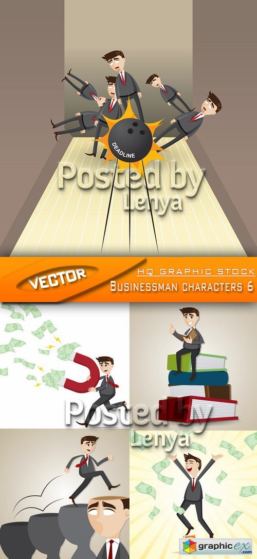 Stock Vector - Businessman characters 6