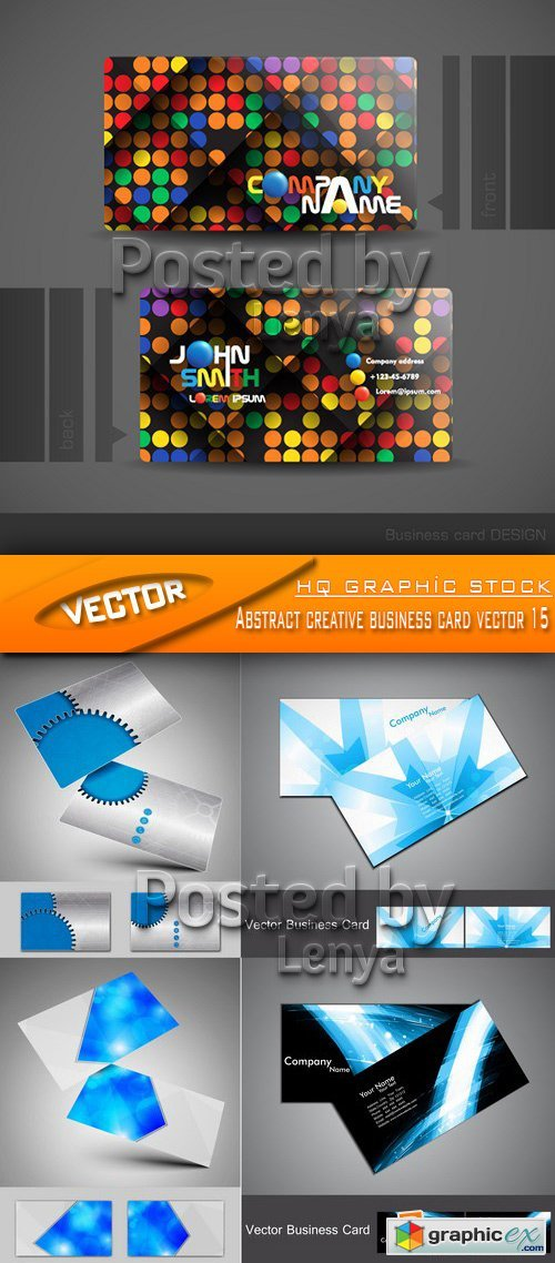 Stock Vector - Abstract creative business card vector 15